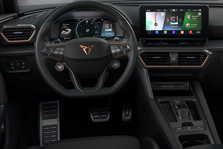 SEAT CUPRA Leon Hatch 5Dr 1.4 eHybrid PHEV 12.8kWh 245PS VZ2 5Dr DSG [Start Stop] inside view